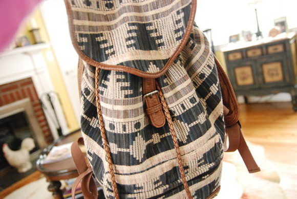 bag tribal girl cool brown mochila bolso