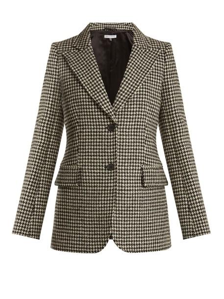 Bella Freud blazer wool white black jacket
