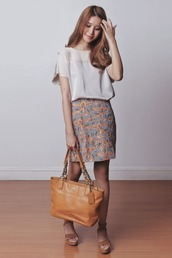 tricia gosingtian,blogger,top,skirt,bag,shoes