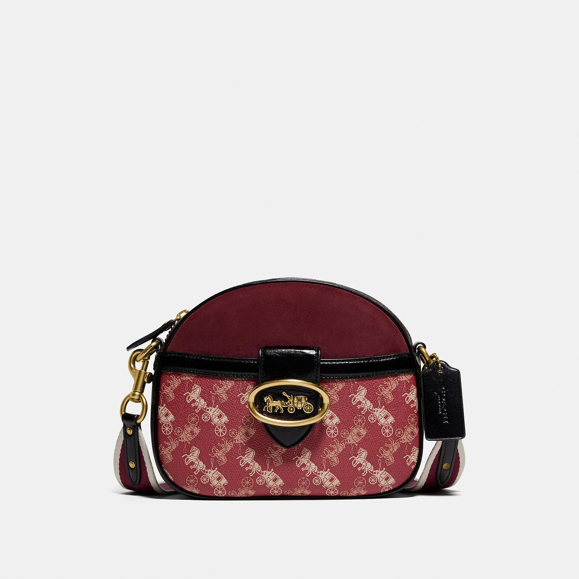Kat Crossbody With Horse And Carriage Print