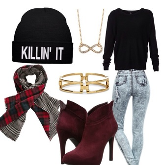 fashion winter sweater hoodie outfit jeans