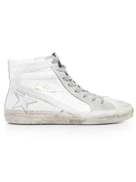 Golden goose sneakers glitter white shoes