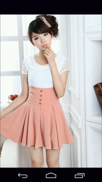 skirt high waisted skirt pastel kawaii lolita loli cute asian