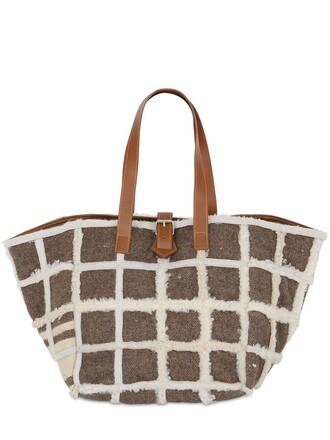 bag tote bag brown beige