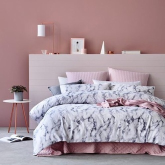 home accessory marble bedroom bedding grey white urban outfitters