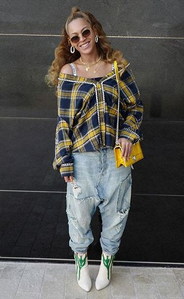shirt jeans ankle boots beyonce plaid fall outfits plaid shirt instagram shoes