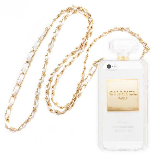 Chanel Perfume Bottle Inspired iPhone 5/5S Case with Chain ...