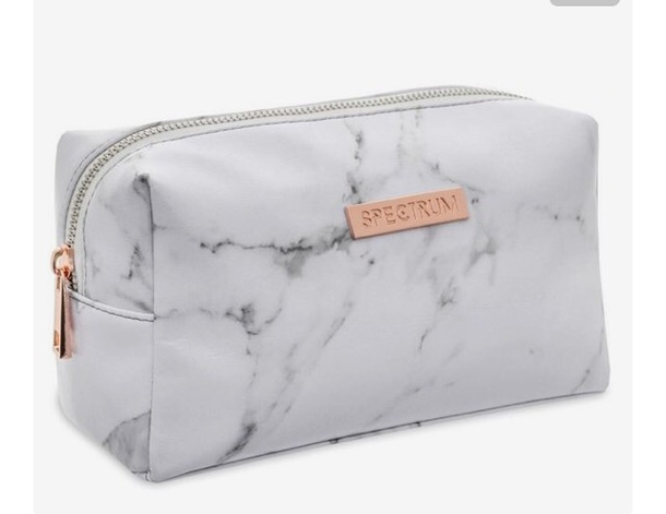 bag marble spectrum purse makeup bag white
