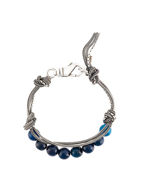 EMANUELE BICOCCHI women beaded silver blue jewels