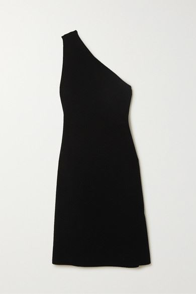 Bottega Veneta - One-shoulder Stretch-knit Midi Dress - Black - One-shoulder Stretch-knit Midi Dress