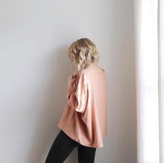 top tumblr pink top long sleeves hairstyles short hair bob hair