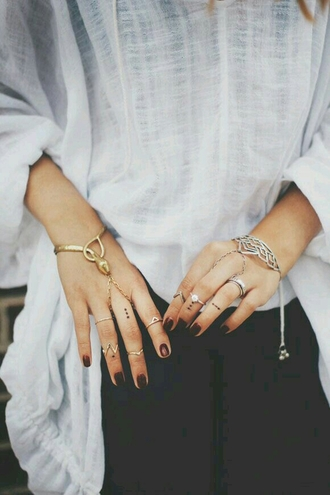 jewels bracelets knuckle rings gold rings silver ring