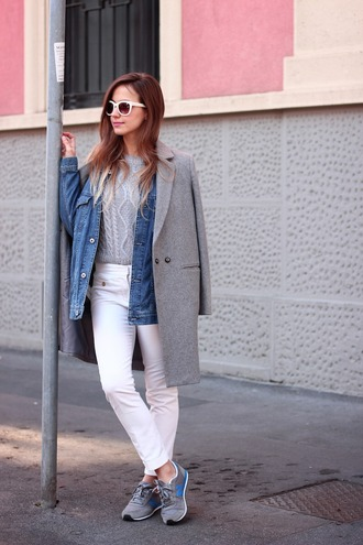 fashion quite blogger jacket sweater pants sunglasses