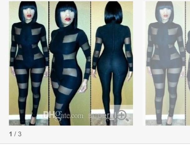 dress black mesh bodysuit long sleeves
