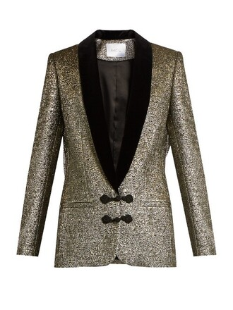 jacket metallic velvet gold