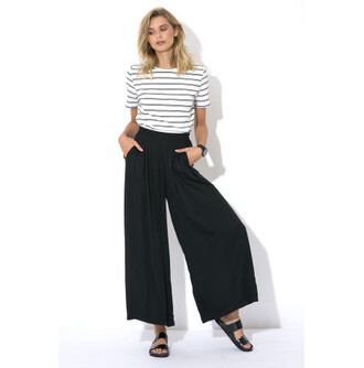 pants luck & trouble clothes wide leg black trousers black pleated