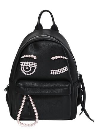 backpack leather backpack leather black pink bag