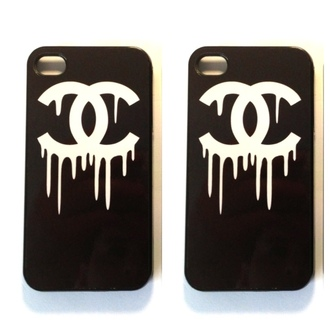 jewels phone cover cover black skirt chanel chanel inspired white iphone cover iphone case iphone 5 case t-shirt black dress chanel t-shirt black and white ipadiphonecase.com