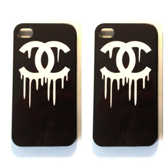 t-shirt chanel chanel t-shirt white black jewels case cover skirt fake chanel iphone cover iphone case iphone 5 iphone 5 case iphone 5 cases little black dress black and white