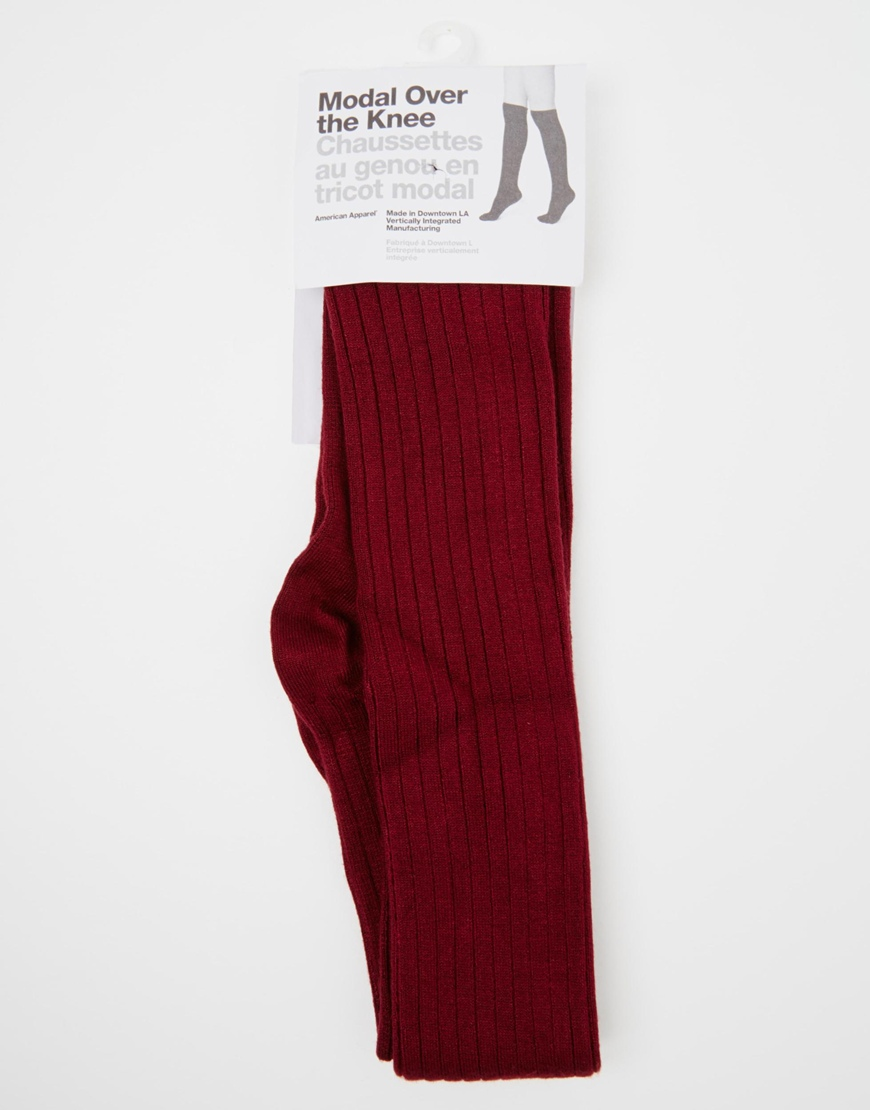American apparel ribbed modal over the knee socks at asos.com