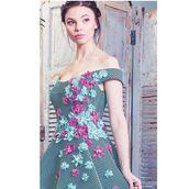 dress,mnm couture,homecoming dress,high low dress,short prom dress,blue dress,aqua,floral dress,off the shoulder,prom dress,mesh dress,birthday dress