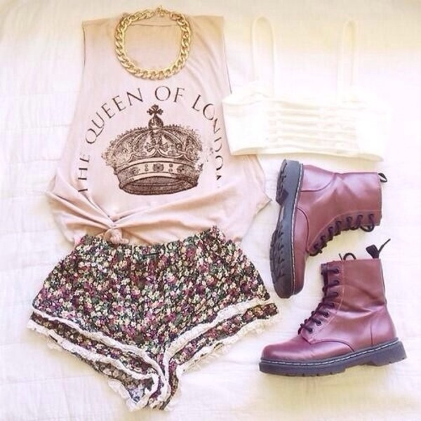 shorts t-shirt skirt