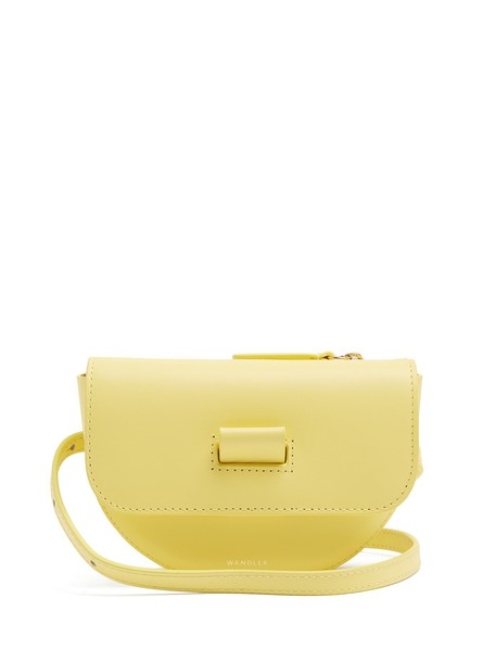 Wandler belt bag bag leather yellow