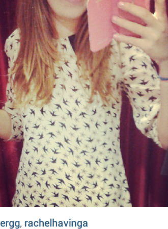 blouse top birds top