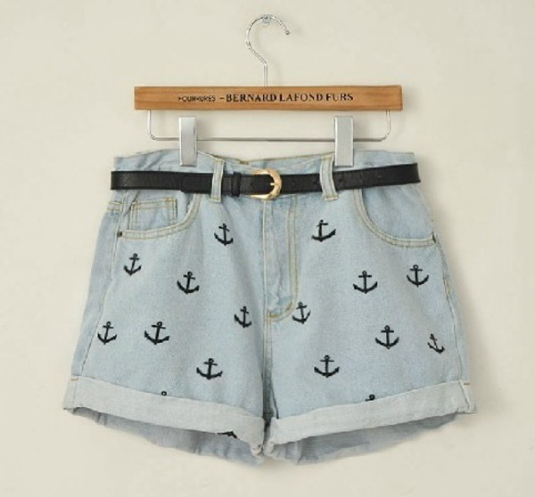 shorts anchor shorts loose denim short denim shorts