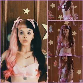 shorts pacify her melanie martinez cool pink bra crybaby cool af