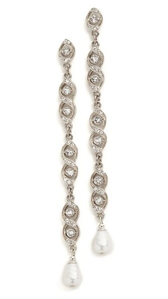 clear earrings silver jewels