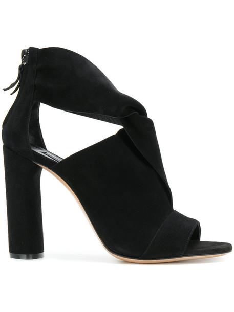 CASADEI women sandals leather black shoes