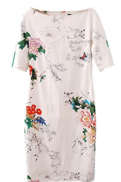 KCLOTH Floral Butterflies Printed Summer Dress