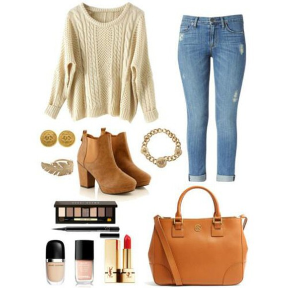 brown autumn boots