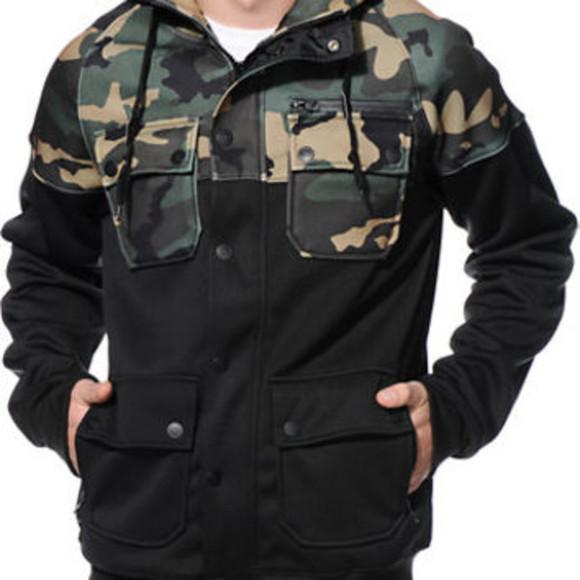 mens coat menswear camouflage
