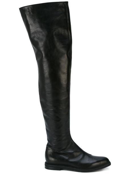 A.F.VANDEVORST women leather black shoes