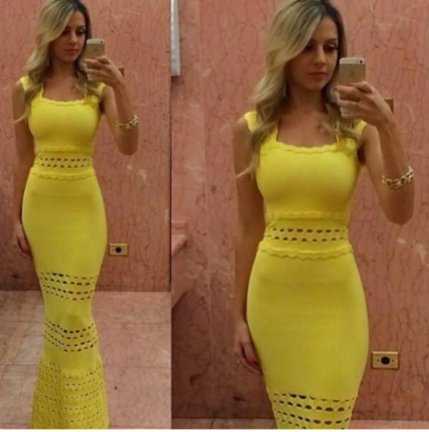 Yellow Little Black Dress - Shop for Yellow Little Black Dress on ...