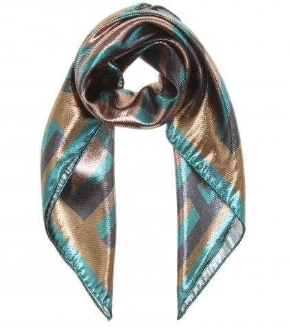 mytheresa.com -  Printed lamé square scarf - Scarves - Accessories - Luxury Fashion for Women / Designer clothing, shoes, bags