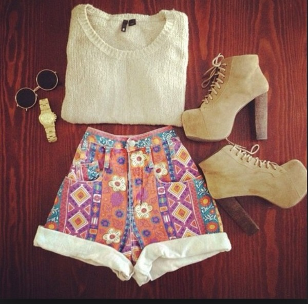 shoes shorts sunglasses sweater