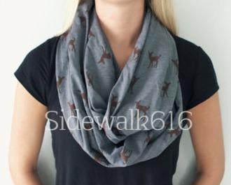 scarf fawn deer grey