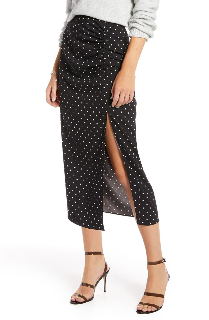 Something Navy Shirred Slip Skirt (Nordstrom Exclusive)
