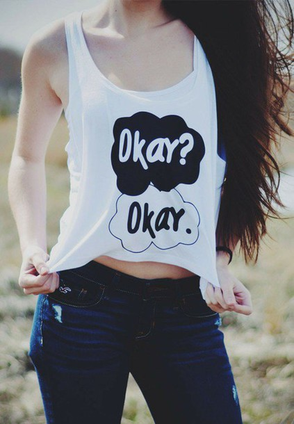 tank top top top crop tops crop cropped summer the fal john green shi9rt quote on it quote on it internet tumblr cute vintage hipster grunge boho bohemian the fault in our stars the fault in our stars shirt the fault in our stars tanks top