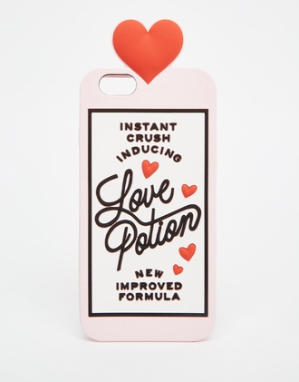 phone cover asos heart love pink pastel pink galentines day valentines day gift idea valentines day quote on it phone case quote on it love potion couple love quotes