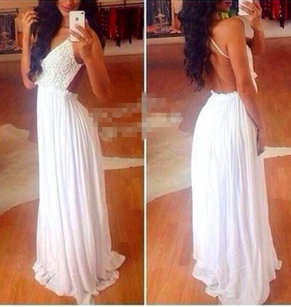 Cute fashion white lace sexy show body dress
