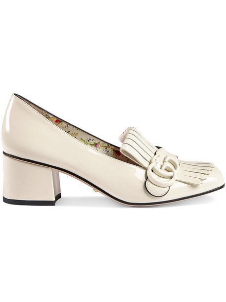 gucci metal women leather white shoes