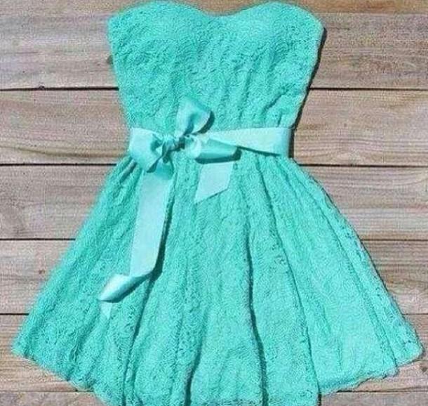 dress mint dress lace dress lace bow