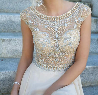 dress white white dress coral dress sparkles short cloth fashion prom dress wedding gjest maxi dress wedding guest gold and white dress diamonds