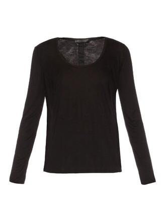 t-shirt shirt long black top