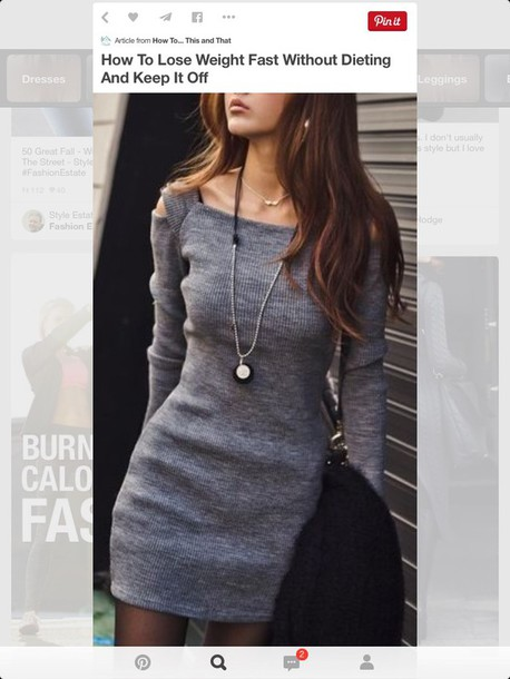 dress gray sweater dress