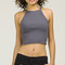 Sweater halter crop top - charcoal